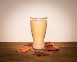 Pumpkin Spice Protein Shake with Fall Decor